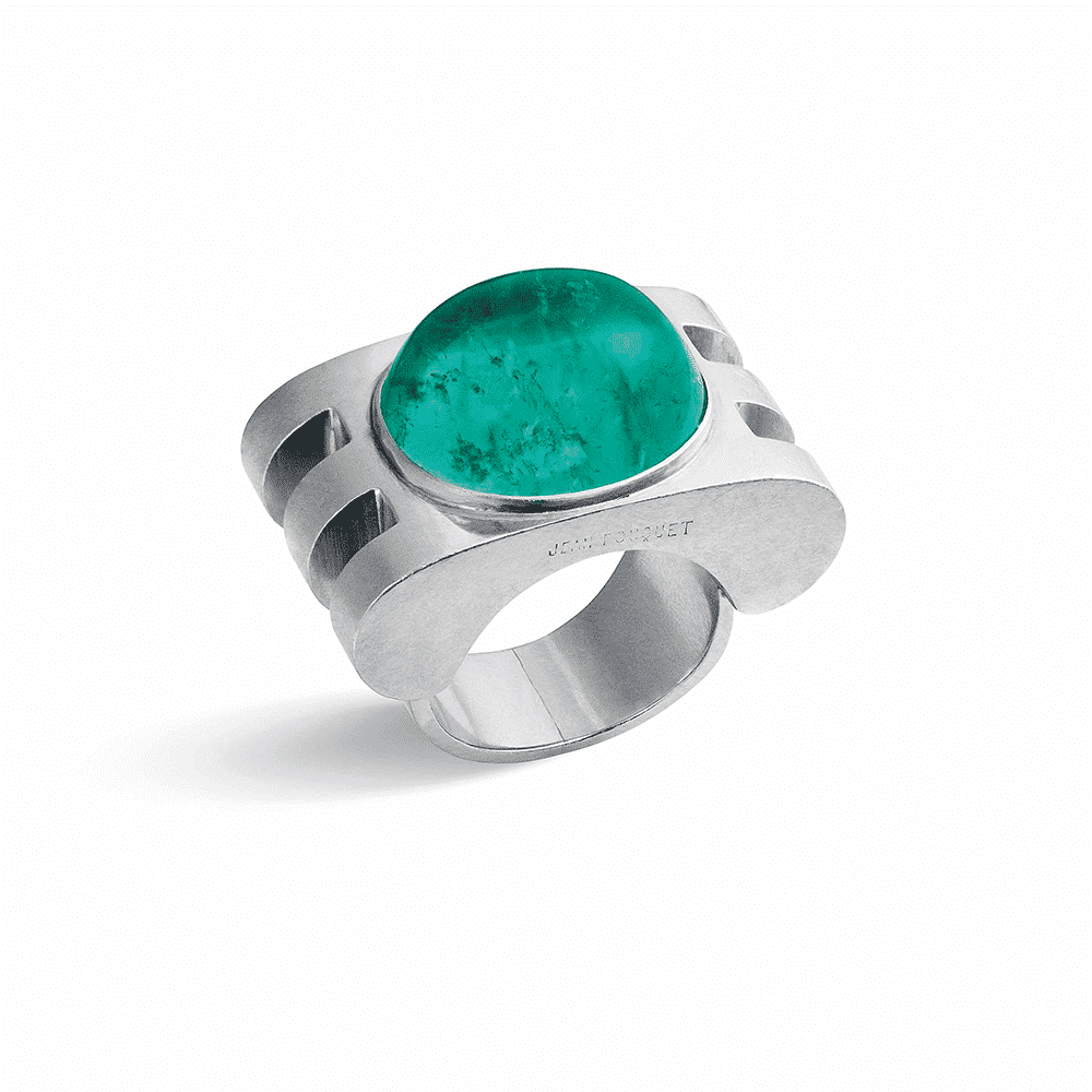 Emerald Ring, Jean Fouquet, c.1920s. Photo Courtesy of Christies.