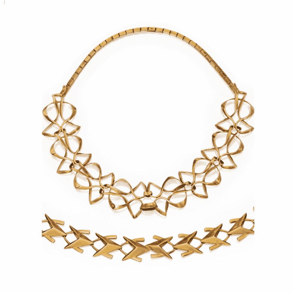 Gold Interchangeable Link Necklace, Jean Fouquet, c.1955-1958. Photo Courtesy of Sotheby's.