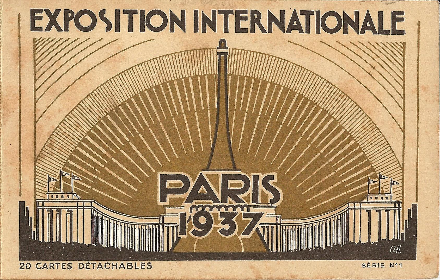 Exposition Internationale : Paris 1937 - 20 Cartes Détachables - Série n°1 - H. Chipault, Concessionnaire à Boulogne-sur-Seine (France).
