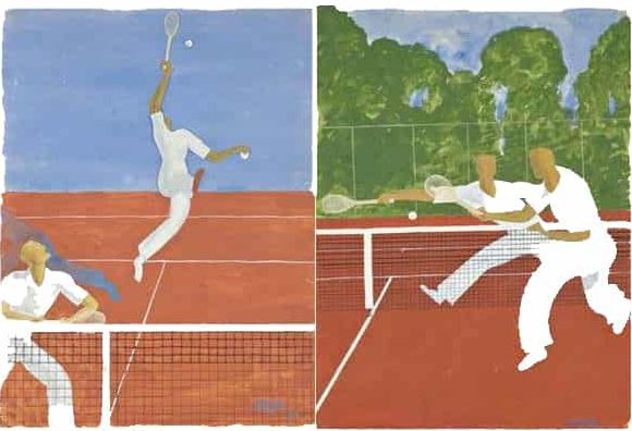 Tennis Posters by Raymond Templier. Photo Courtesy of Artnet.