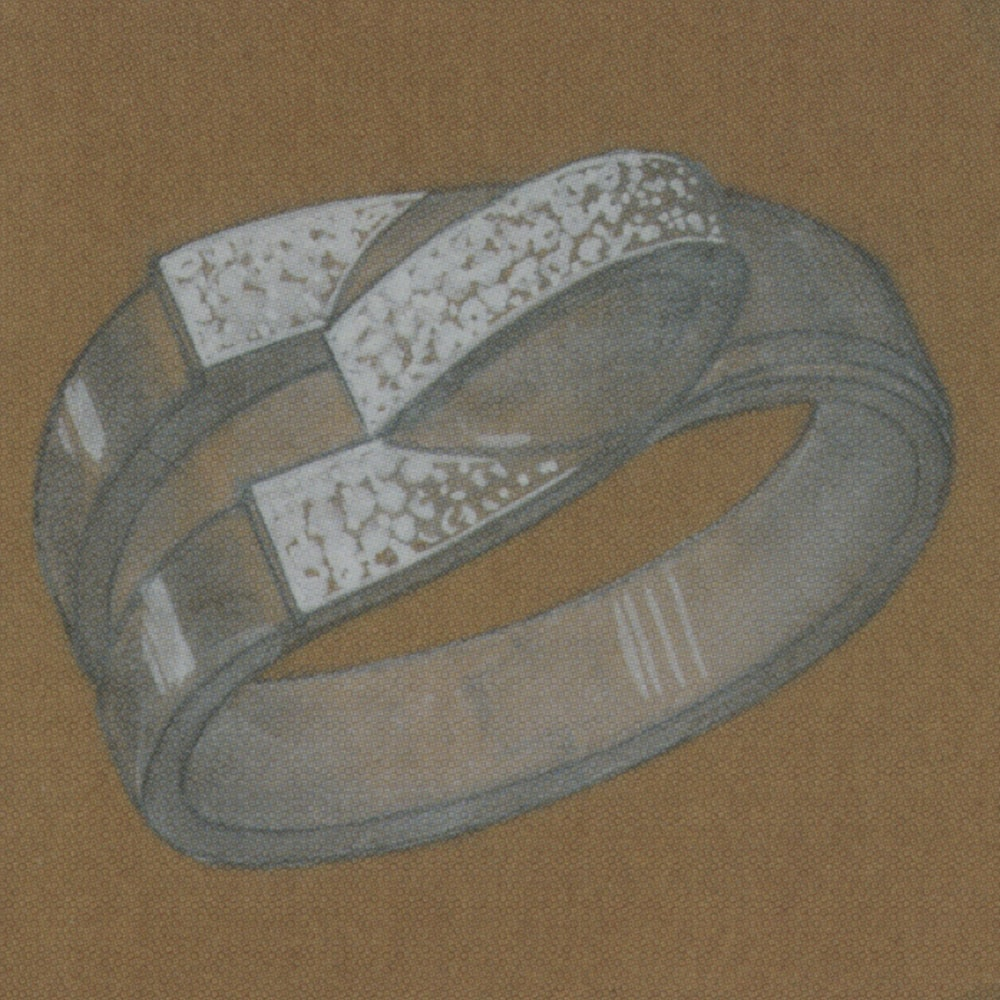 Design Study for Convertible Bracelet and Brooch, Raymond Templier, c.1935. Photo Courtesy of Sotheby's.