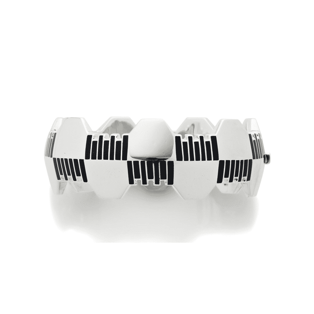 Lacquer, Silver, and White Gold Bracelet, Raymond Templier, c.1927. Photo Courtesy of Christie's.