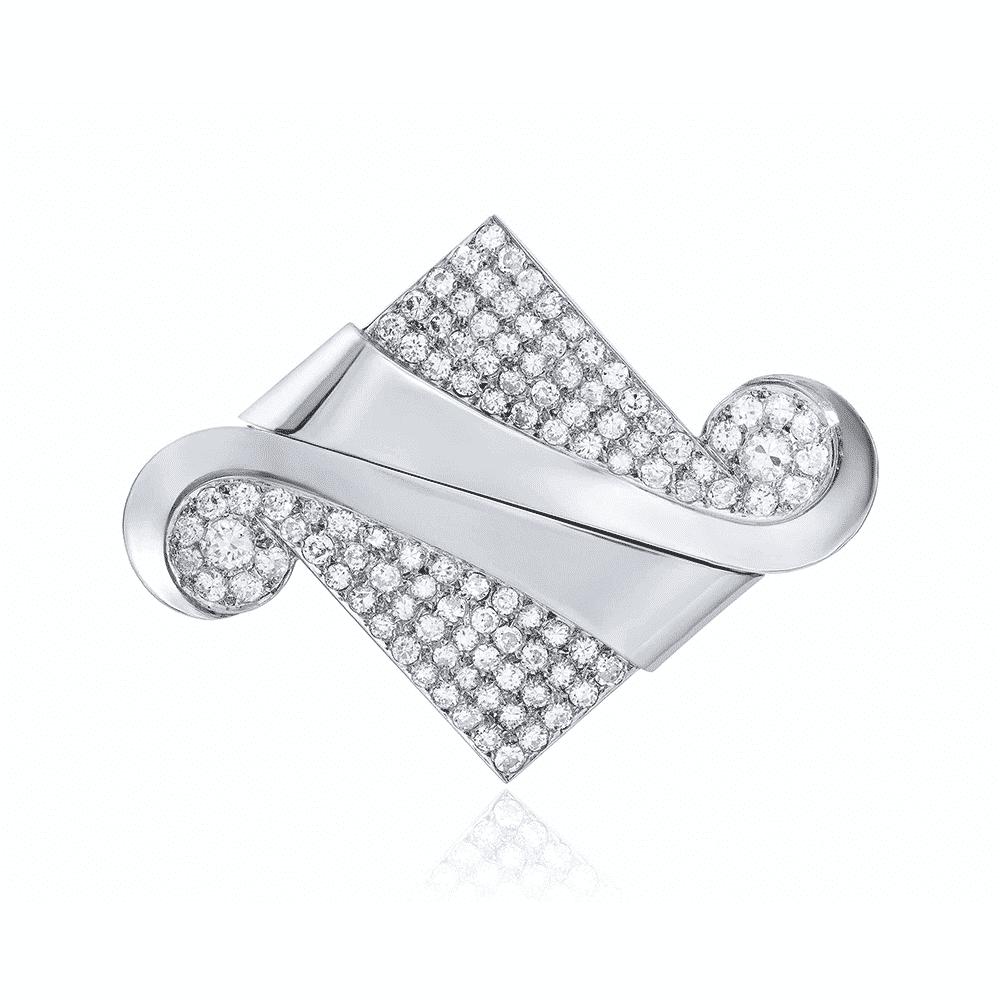 Diamond Double Clip Brooch, Raymond Templier. Photo Courtesy of Christie's.