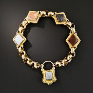 Georgian Agate Gate Bracelet.