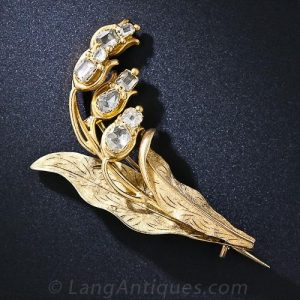 Georgian Lily of the Valley Brooch.