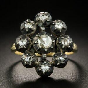 Georgian Diamond Cluster Ring.