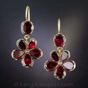 Georgian Garnet Earrings.