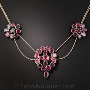 Georgian Garnet Necklace.