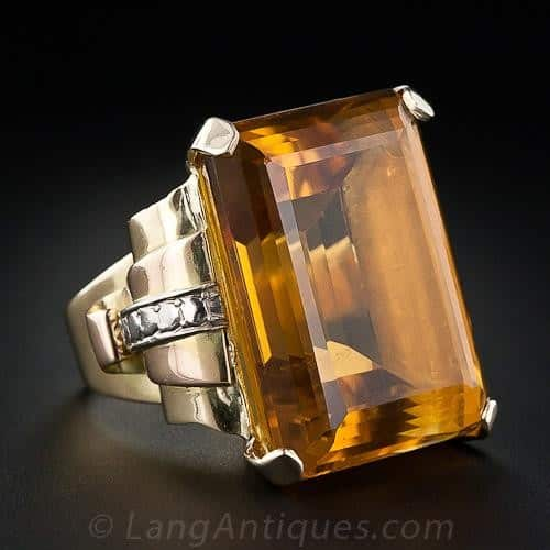 Retro Citrine Ring.