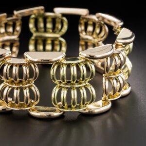 Retro 18k Rose and Green Gold Bracelet.