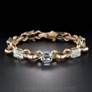 Retro Aquamarine Bracelet.