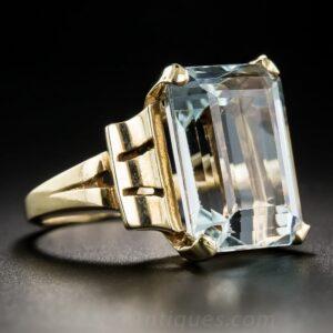 Retro Aquamarine Ring.