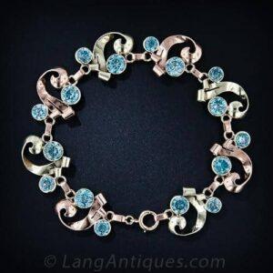 Retro Blue Zircon Bracelet.