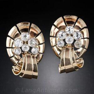 Retro Diamond Earrings.