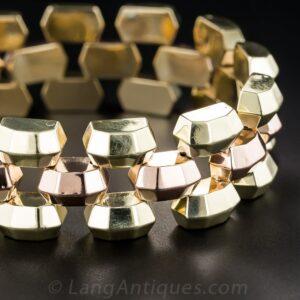 Retro Bicolor Gold Bracelet.