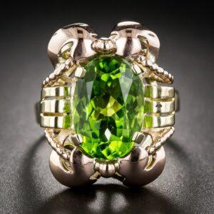 Viennese Retro Peridot Ring.