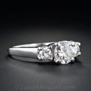 Prong-Set Diamond Engagement Ring.