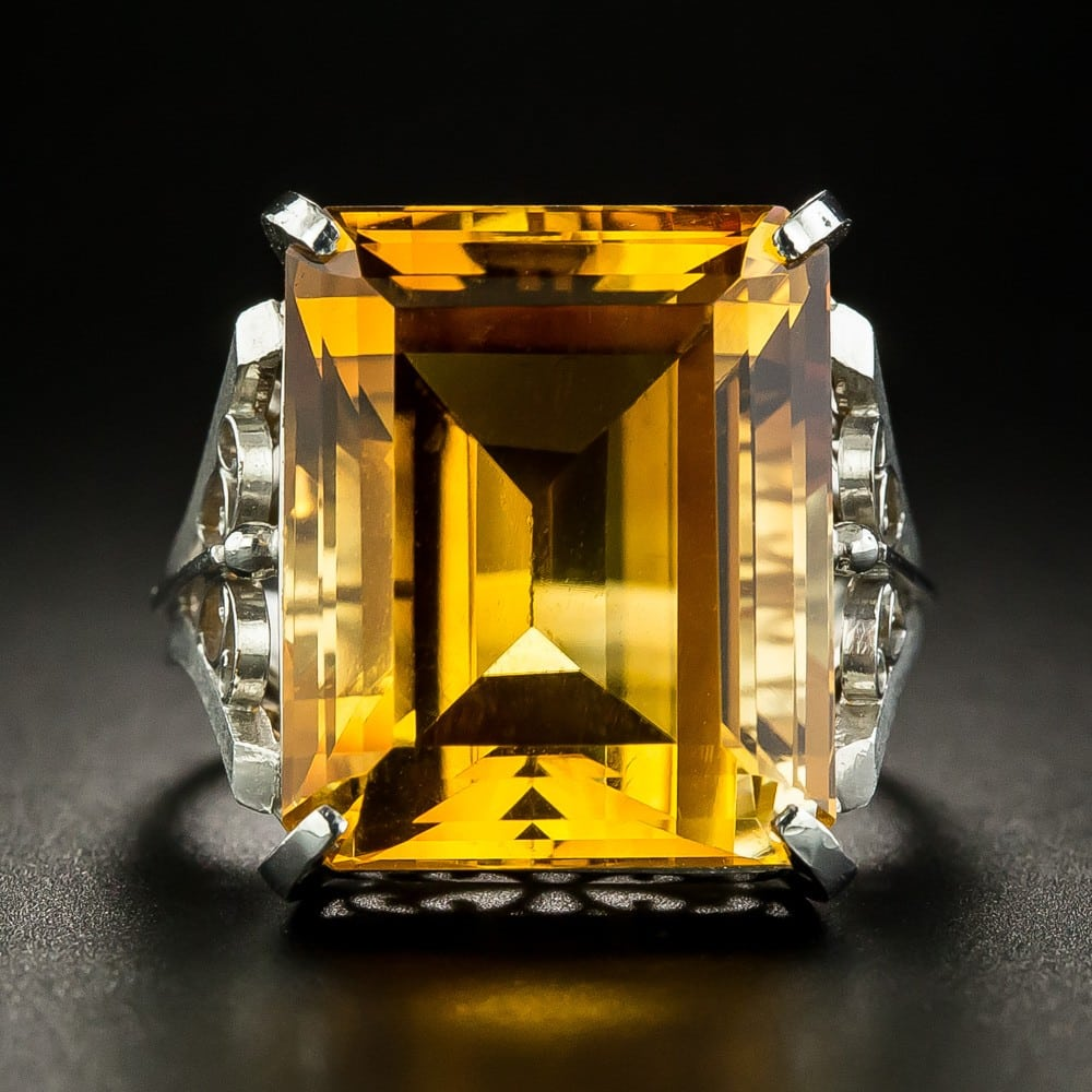 Citrine Cocktail Ring.