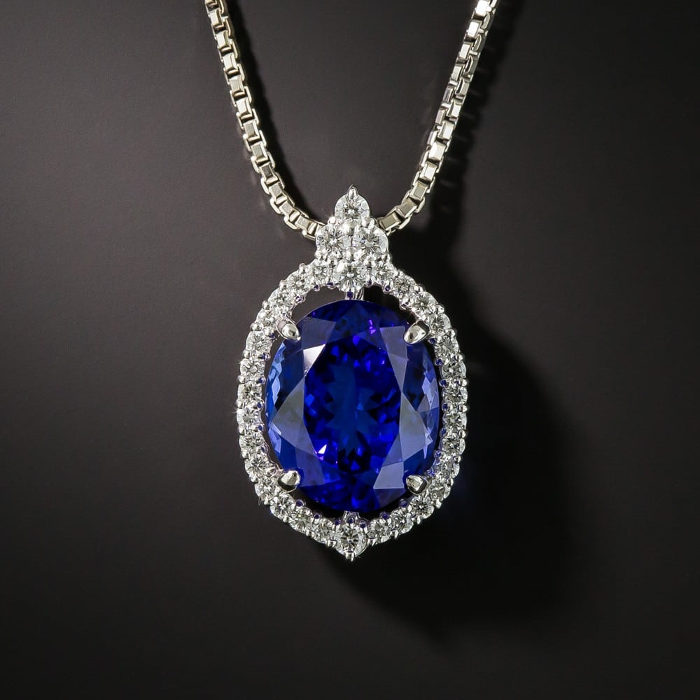 Tanzanite and Diamond Pendant Necklace.