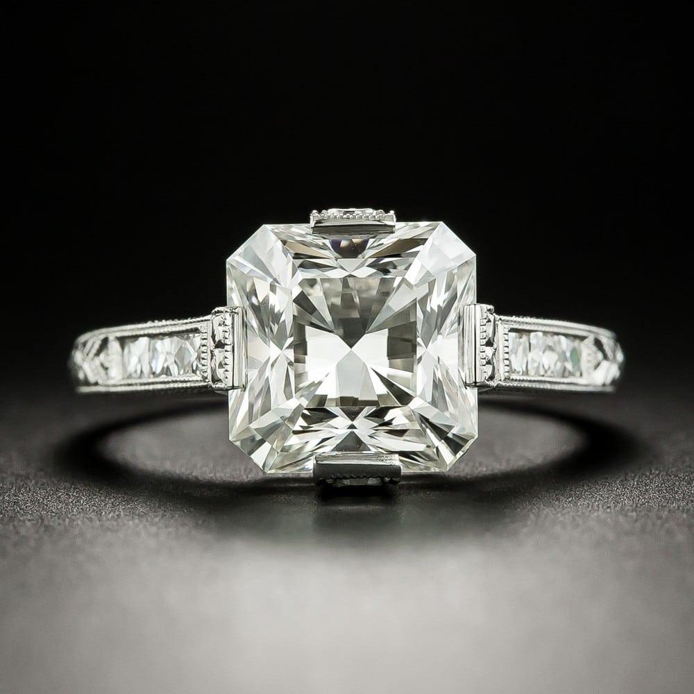 Square Cut Diamond Engagement Ring.