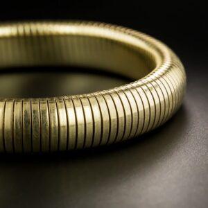 Mid-Century Gas Pipe Bangle Bracelet.