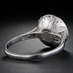 Antique Closed-Back Rose-Cut Diamond Ring.