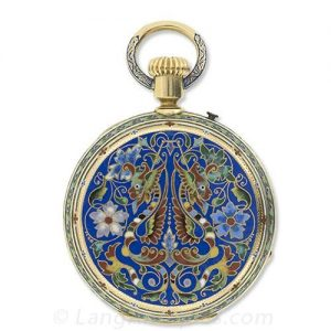 Victorian Champleve Enamel Pocket Watch.