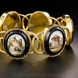 Micromosaic Bracelet Depicting Roman Architectural Sites.