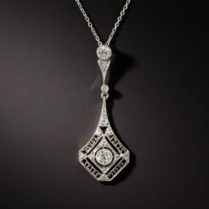 Art Deco Diamond Openwork Pendant.