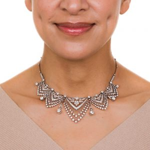 Belle Epoque Diamond Festoon Necklace.