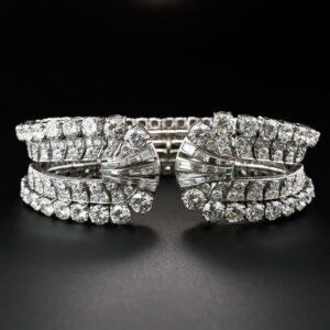 Mid-Century Diamond Cuff Bracelet , Eliakim Le Caire.