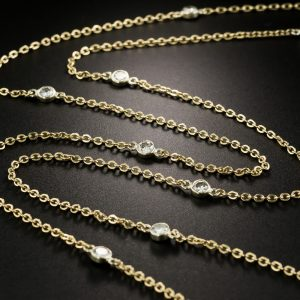 Diamonds by the Yard Cable Chain Necklace.