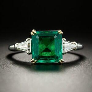 Emerald and Diamond Ring, Harry Winston.