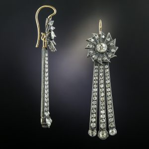 Vintage Diamond Day and Night Earrings.