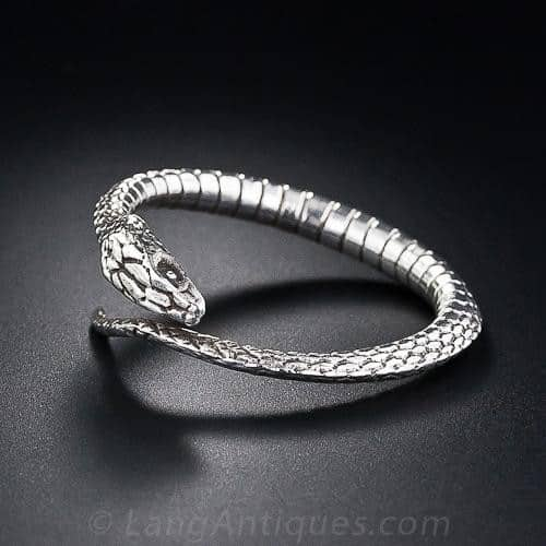 Silver Snake Motif Scarf Ring, Tiffany & Co.
