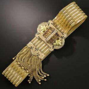 Victorian Slide Bracelet with Fringe.