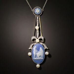 Edwardian Wedgwood and Diamond Necklace.