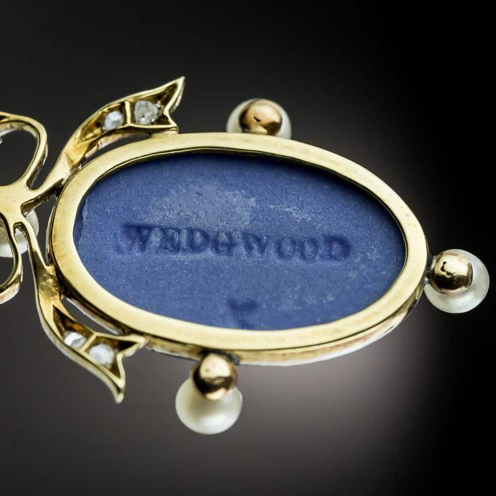Edwardian Wedgwood and Diamond Necklace Signature (reverse).